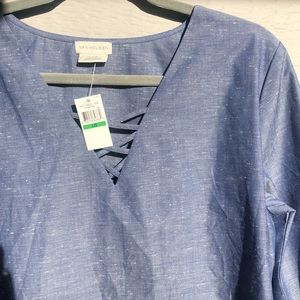 Van heusen blue light weight womens top